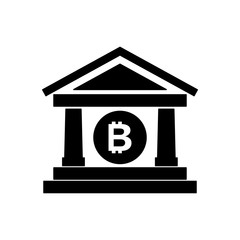 bank building with bitcoin