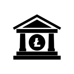 bank building with litecoin