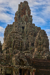 The Bayon Prasat Bayon Khmer temple at Angkor Thom is popular tourist attraction, Angkor Wat Archaeological Park in Siem Reap, Cambodia UNESCO World Heritage Site