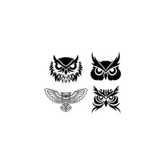 Owl logo - inspiration vector illustration. Emblem design on white background