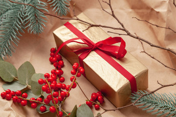 Christmas gift with beautiful decoration
