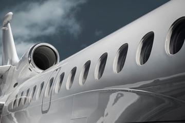 Windows of Dassault Falcon 7X business jet