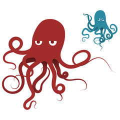 Two octopus forgiven. One of the sad, the other indifferent