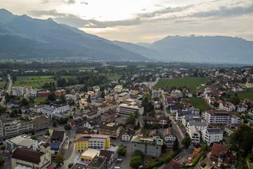 aerial view of Liechtenstein