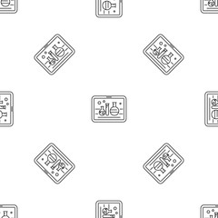 Chemistry on tablet pattern seamless vector repeat geometric for any web design