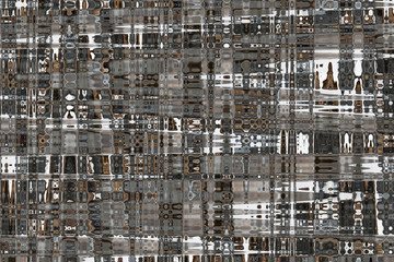 """Neutral Colored Artistic Abstract """"Tight Weave""""  Background of Steel Greys, Chocolate Brown, and White in Warm and Cool Tones"""