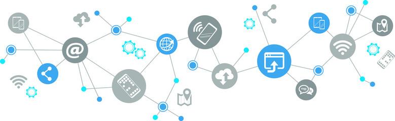 mobile communication / social media concept - vector illustration