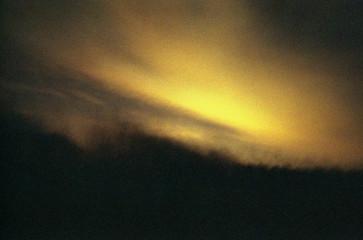 Grainy image of sunset