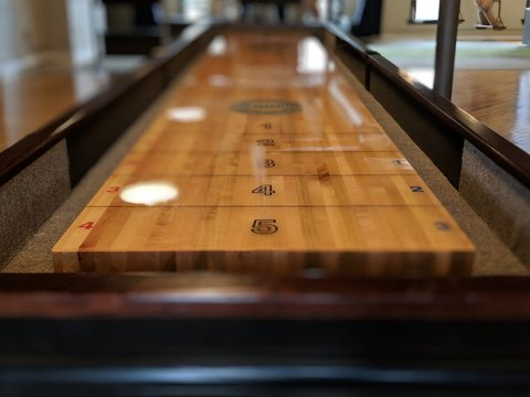 shuffleboard table perspective