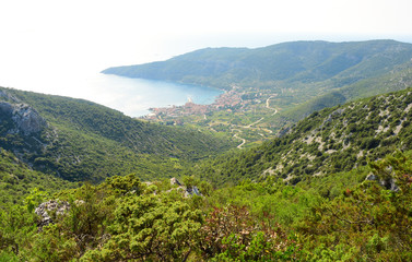 View of Valley and Komiža Town - Vis, Croatia