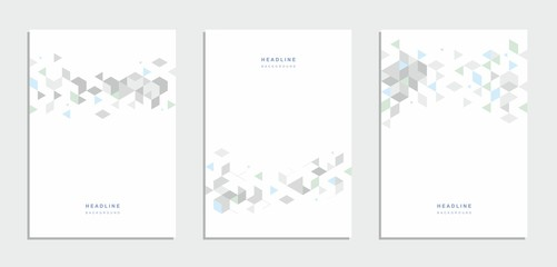 Abstract geometric technological brochure, flyer, background.