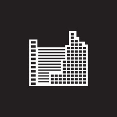 skyscraper building icon. Simple element illustration. skyscraper building symbol design template. Can be used for web and mobile
