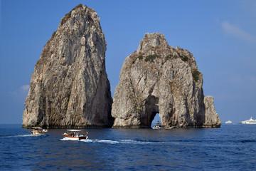 sailing near the Faraglioni, Italy