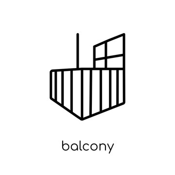 Balcony icon. Trendy modern flat linear vector Balcony icon on white background from thin line Architecture and Travel collection