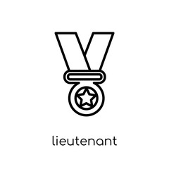 lieutenant icon from Army collection.