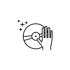 DJ hand icon. Element of new year oarty outline icon. Thin line icon for website design and development, app development. Premium icon