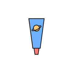 space food icon. Element of space outline color icon. Thin line icon for website design and development, app development. Premium icon