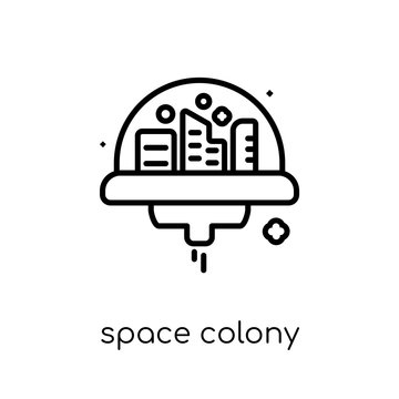 Space colony icon from Astronomy collection.