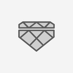 diamond field outline icon. Element of 2 color simple icon. Thin line icon for website design and development, app development. Premium icon