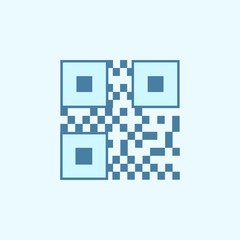 bar code field outline icon. Element of 2 color simple icon. Thin line icon for website design and development, app development. Premium icon