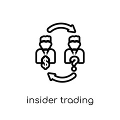 Insider trading icon. Trendy modern flat linear vector Insider trading icon on white background from thin line Business collection
