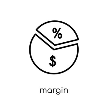 Margin icon. Trendy modern flat linear vector Margin icon on white background from thin line Business collection
