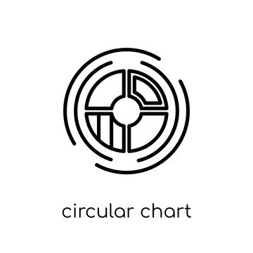 Circular chart icon. Trendy modern flat linear vector Circular chart icon on white background from thin line Business and analytics collection