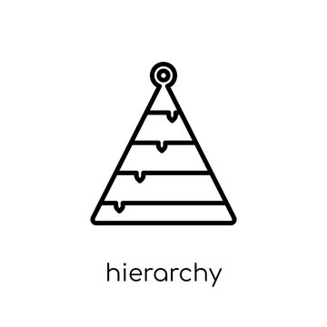 Hierarchy icon. Trendy modern flat linear vector Hierarchy icon on white background from thin line Business and analytics collection