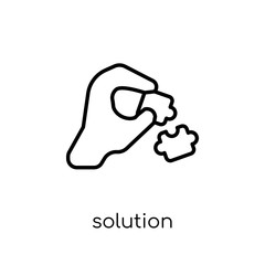 Solution icon. Trendy modern flat linear vector Solution icon on white background from thin line Business and analytics collection