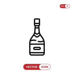 Champagne vector icon