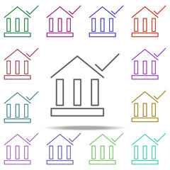 bank check icon. Elements of finance in multi color style icons. Simple icon for websites, web design, mobile app, info graphics