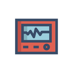 heart statistic icon vector with fill outline style. medical icon