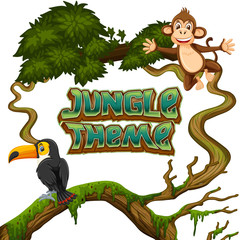 Animals in jungle theme