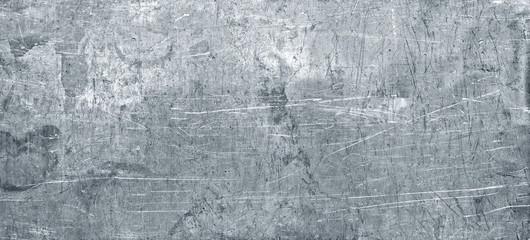 Fototapeta Old metal texture, wide sheet of chrome iron background obraz