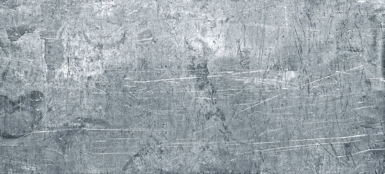 Old metal texture, wide sheet of chrome iron background