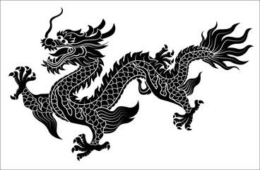 Chinese dragon crawling