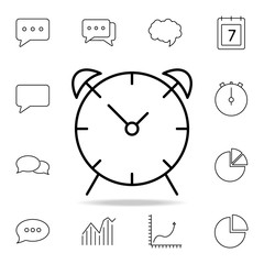 alarm clock icon. Detailed set of simple icons. Premium graphic design. One of the collection icons for websites, web design, mobile app