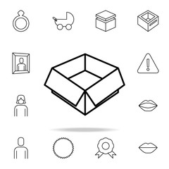 open box icon. Detailed set of simple icons. Premium graphic design. One of the collection icons for websites, web design, mobile app