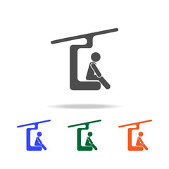 ski lift icon. Elements of Christmas holidays in multi colored icons. Premium quality graphic design icon. Simple icon for websites, web design, mobile app