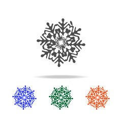 snowflake icon. Elements of Christmas holidays in multi colored icons. Premium quality graphic design icon. Simple icon for websites, web design, mobile app