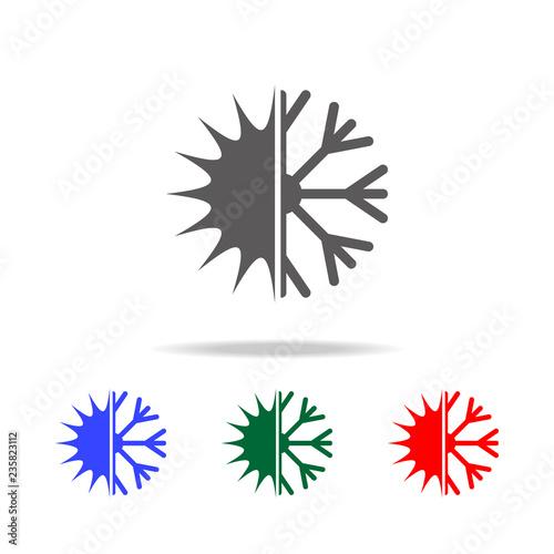 Christmas Holidays Icon.Snowflake With Sun Icon Elements Of Christmas Holidays In