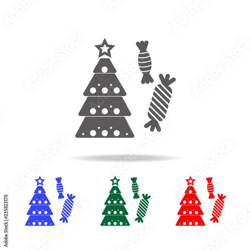 Christmas Holidays Icon.Christmas Tree With Sweets Icon Elements Of Christmas