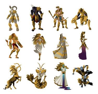 zodiac horoscope creatures