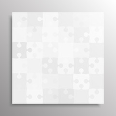 The Grey Pieces Puzzle. Jigsaw Banner. Vector.