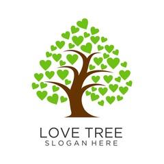 Love tree logo design
