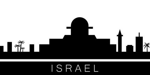 Israel detailed skyline. Vector postcard illustration