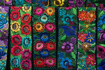 fajas de colores bordadas guatemala Wall mural