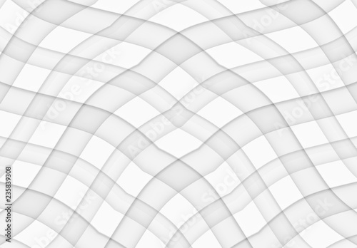 3d Rendering Abstract Modern White Square Grid Fabric Artwork Style