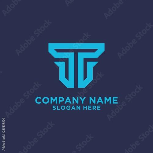 455818729 Letter T logo design