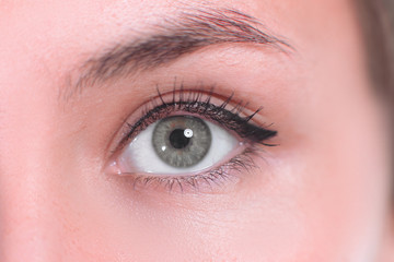 close up. beautiful women eye. macro image